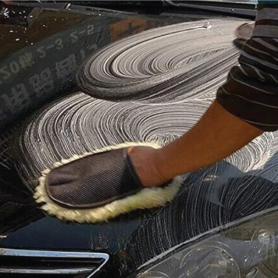 Lamb Wool Car Wash Mitt Gloves