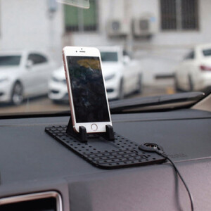 Car Non-Slip Mobile, Tab Holder With Charger Pad