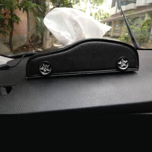 Car Shape Dashboard Tissue Box (Black Color)