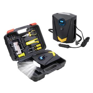Digital Inflator with Tyre Repair Kit