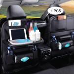 PU Leather Fashionable Car Seat Back Storage (Black)