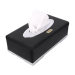 PU Leather Tissue box (Black)