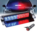 Red and Blue Led Flash Strobe Warning Light 16 LED
