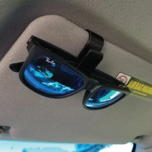 Sun visor sunglasses holder