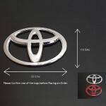 Toyota Abs Crome Car Plastic Logo