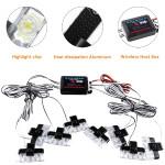 Wireless Remote Control Led Strobe Grill Flashlight 8Pcs