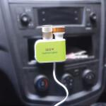XUNNIU 2 Way Sockets 2 Car Cigarette Lighter Charger